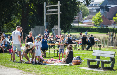 Picknicken in het park 21/7 & 18/8